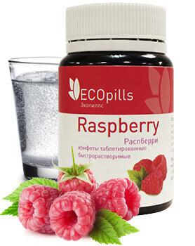 Ecopills RaspBerry (Эко Пилс Распберри) - таблетированные конфеты для похудения