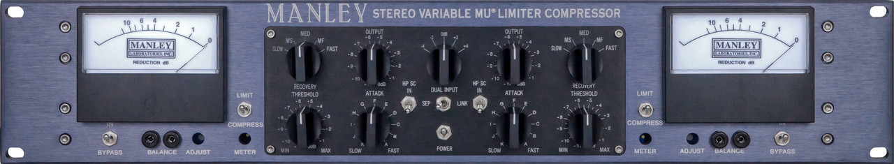 MANLEY Stereo Variable Mu® Mastering Version with T-Bar Mod Option