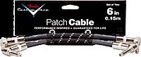FENDER CUSTOM SHOP 6`` PATCH CABLE 2 PACK BLACK TWEED, фото 1