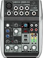 Behringer Q502USB - 5 каналов, встр. USB, 2-х полосный эквалайзер, компрессор, фото 1