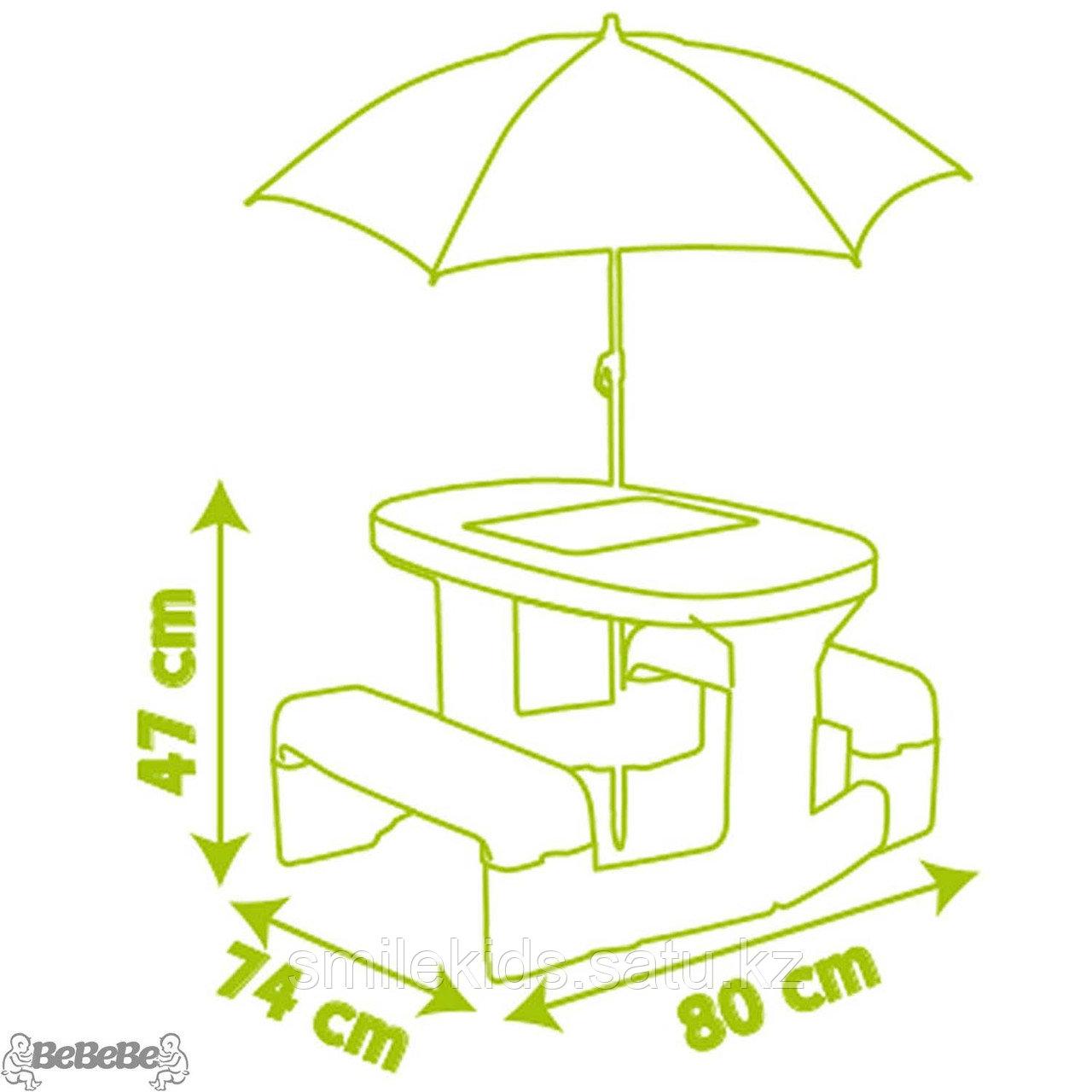 Детский столик для пикника с зонтиком