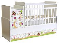 Кроватка детская Фея 1100 Пряничный домик (белый)