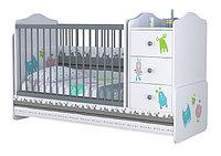 Детская кроватка-трансформер Polini Basic Монстрики, фото 1