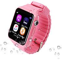 Умные детские часы  Smart Baby Watch V 7 K розовые, фото 1