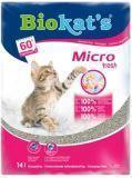 Biokat's Mikro Fresh Комкующийся наполнитель с ароматом летних цветов и мелкими гранулами, 14л