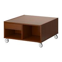 Журнальный стол  БУКСЭЛЬ классический коричневый ИКЕА, IKEA  , фото 1