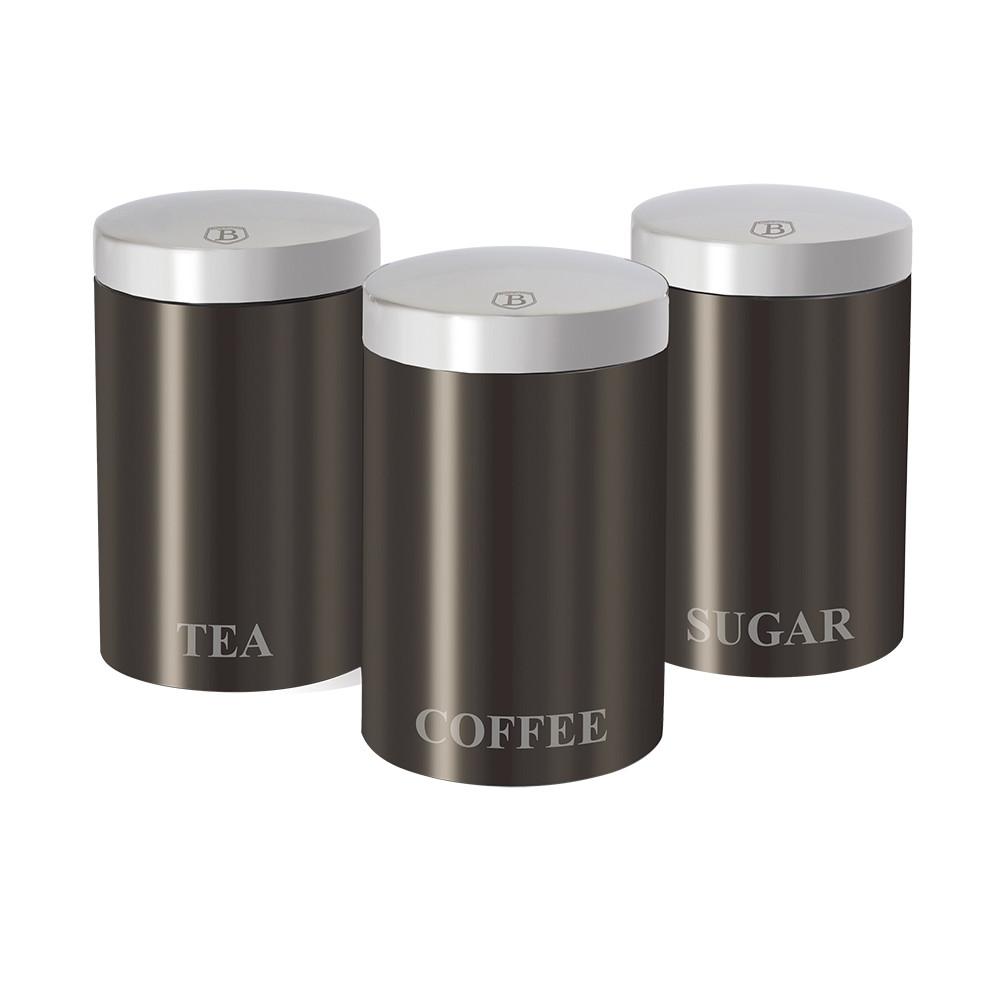 Набор контейнеров для хранения 3 пр.Berlinger Haus Metallic carbon