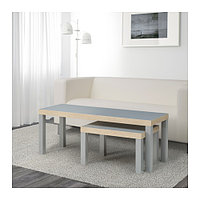 Комплект столов ЛАКК 2 шт. серый ИКЕА, IKEA, фото 1
