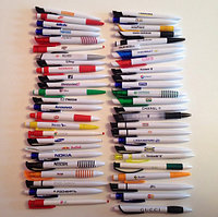 УФ печать логотипа на ручках