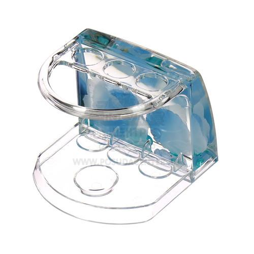 Подставка для зубных щеток Аквалиния малая голубые лепестки