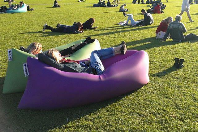 Надувной лежак Lamzak (Ламзак) Фиолетовый, фото 2