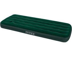 """66950, Intex, Надувной матрас """"Downy Bed"""" 76х191х22см, со встроенным ножным насосом"""