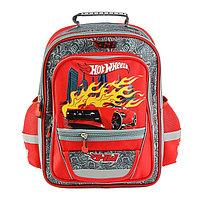 Рюкзак школьный эргономичная спинка Mattel Hot Wheels Junior 39*34*19 для мальчика, красный