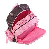 Рюкзак школьный эргономичная спинка Jack&Lin 42*29*16 см, для девочки, розовый/черный, фото 3