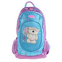Рюкзак школьный Fizzy Moon 40*29*15 усиленная спинка, для девочки, сиреневый