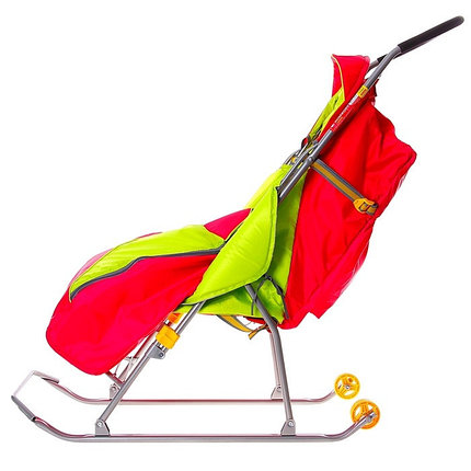 """Детские Санки-коляска """"Тимка 2 Комфорт"""". Цвет малиновый , фото 2"""