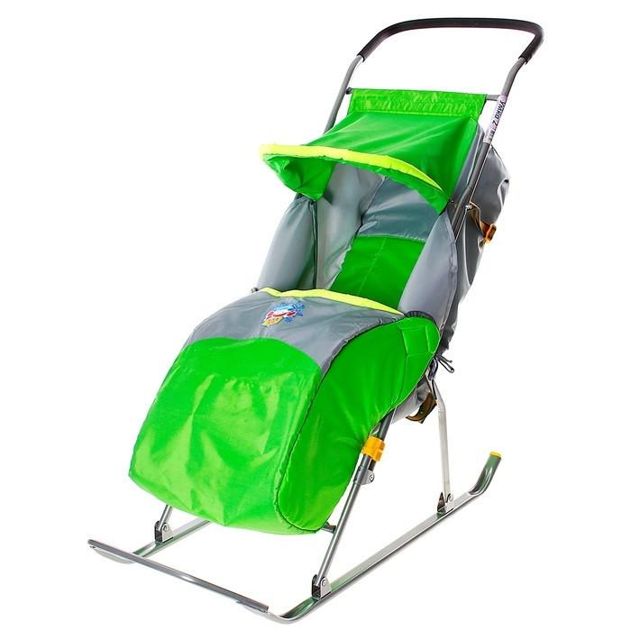 """Детские Санки-коляска """"Умка 2"""". Цвет Зелёный"""