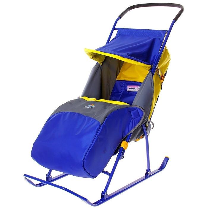 "Детские Санки-коляска ""Умка 2"". Цвет синий"