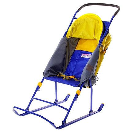 """Детские Санки-коляска """"Умка 2"""". Цвет синий, фото 2"""