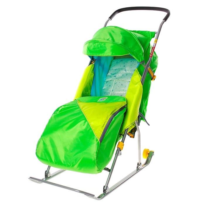 """Детские Санки-коляска """"Тимка 2 Комфорт"""". Цвет зелёный"""