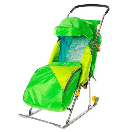 """Детские Санки-коляска """"Тимка 2 Комфорт"""". Цвет зелёный , фото 2"""