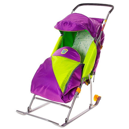 "Детские Санки-коляска ""Тимка 2 Комфорт"". Цвет лавандовый, фото 2"