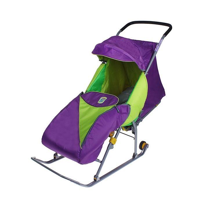 Детские Санки-коляска «Тимка Премиум». Цвет лавандовый