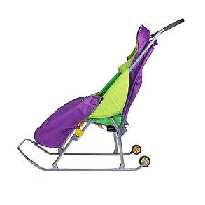 Детские Санки-коляска «Тимка Премиум». Цвет лавандовый, фото 2