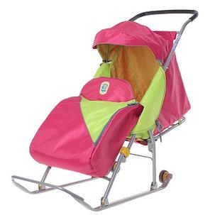 Детские Санки-коляска «Тимка Премиум». Цвет малиновый, фото 2