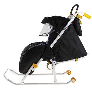 Детские Санки-коляска «Ника детям 2». Цвет чёрный, фото 2