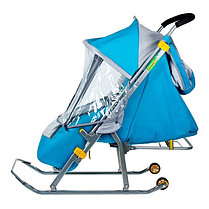 Детские Санки-коляска «Ника Детям 4». Цвет голубой, фото 3