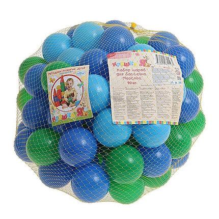 "Шарики для сухого бассейна с рисунком, диаметр шара 7,5 см, набор 30 шт Шарики для сухого бассейна ""Морские"" с рисунком, диаметр шара 7,5 см, набор 30, фото 2"