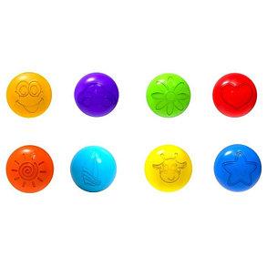 Шарики для сухого бассейна с рисунком, диаметр шара 7,5 см, набор 90 шт., фото 2