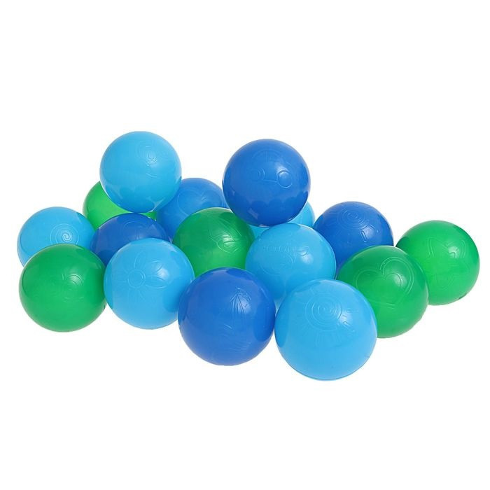 "Шарики для сухого бассейна с рисунком, диаметр шара 7,5 см, набор 90 шт. Шарики для сухого бассейна ""Морские"" с рисунком, диаметр шара 7,5 см, набор"