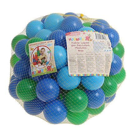 "Шарики для сухого бассейна с рисунком, диаметр шара 7,5 см, набор 90 шт. Шарики для сухого бассейна ""Морские"" с рисунком, диаметр шара 7,5 см, набор, фото 2"