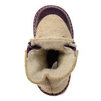 Унтоваленки ФОМА св.войлок шерсть 33369*_26 (бежевый) (р. 26) фиолетовый, фото 3