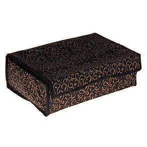 """Органайзер для белья с крышкой, 16 отделений, 30х30х10 см """"Вензель"""", цвет чёрно-золотой, фото 2"""