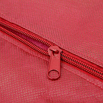 Чехол для одежды спанбонд, с окном 60х120 см, цвет бордо, фото 2