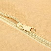 Чехол для одежды спанбонд, с окном 60х120 см, цвет бежевый, фото 3