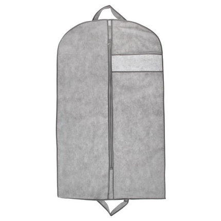Чехол для одежды с окном 100х60 см, цвет серый, фото 2