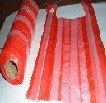 Пакеты маечки красные полосатые