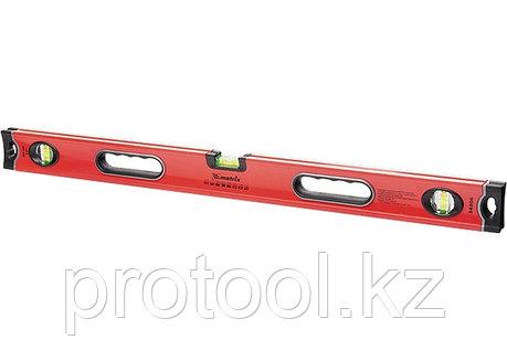 Уровень алюминиевый, 1500 мм, 3 глазка, ударопрочные заглушки, двухкомпонентные ручки// MATRIX PROFI, фото 2