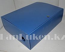 Папка архивная для документов, ширина 10 см (голубая)