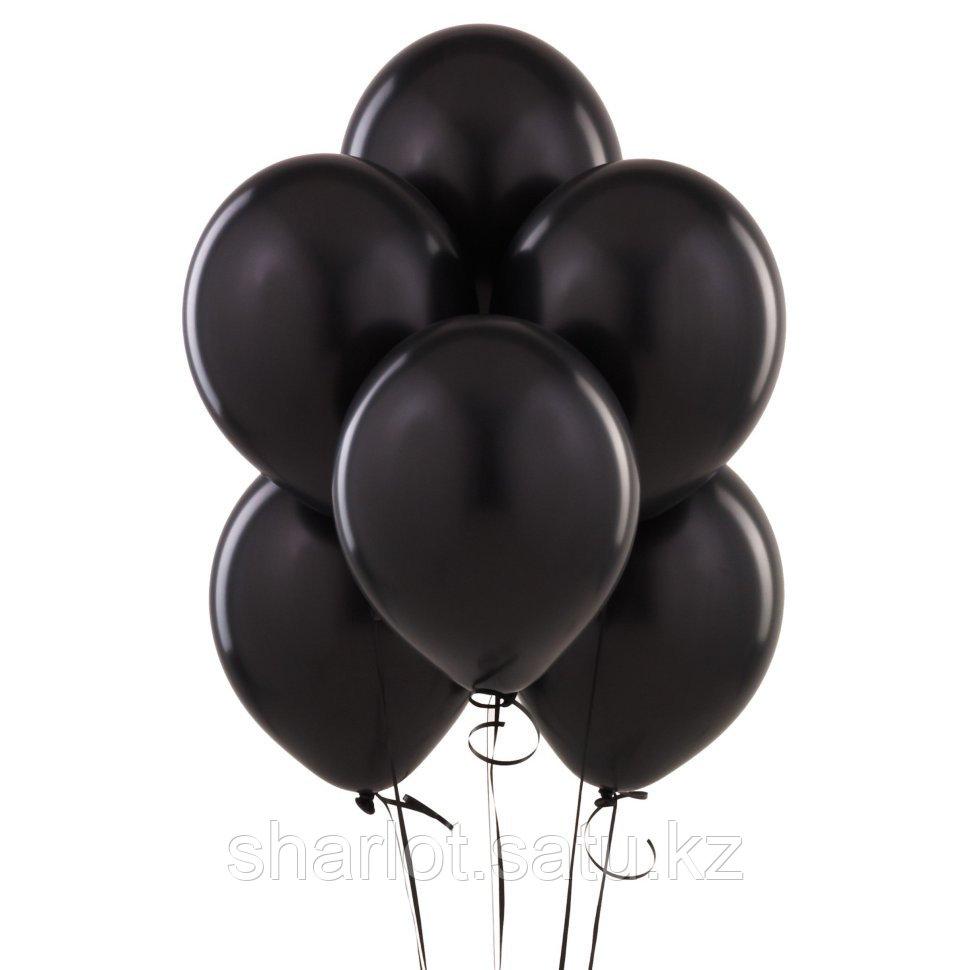 Черные шары 25см