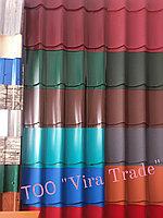 Металлочерепица СуперМонтеррей Глянец шоколад Ral 8017 0,45мм Россия, фото 1