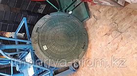 Люк колодца полимер-песчаный ГОСТ 3т
