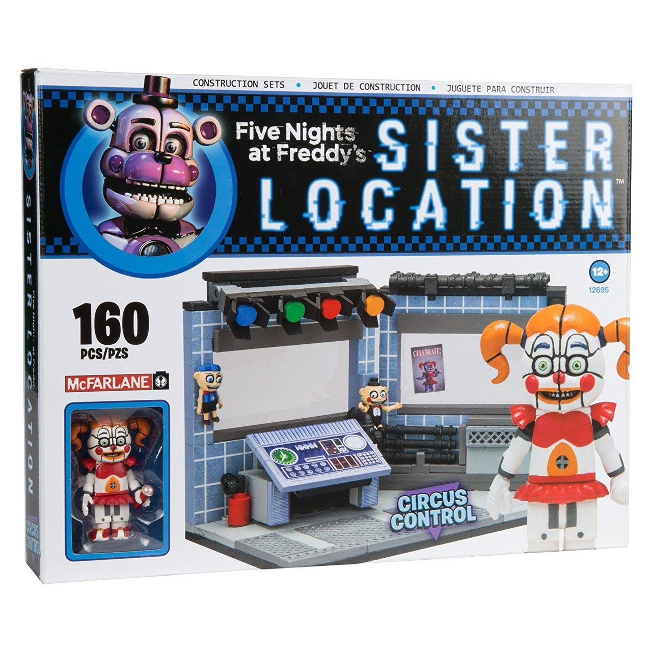 "Five Nights at Freddy's Sister Location Конструктор ""Управление цирком"" 160 деталей"