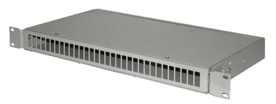 ШКО-С-1U-32 FC Пустая коробка, несъемная панель на 32 розетки FC в ком с пл хом (2шт), фото 2