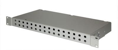 ШКО-С-1U-32-SC Пустая коробка, несъемная панель на 32 розетки SC в комп с пл хом (2шт)