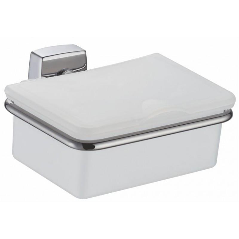 Держатель ватных дисков Fixsen Kvadro FX-61318 белый-хром